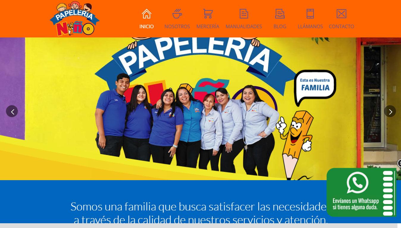 Creacion de sitio web para papelerías y comercios Nuevo Laredo