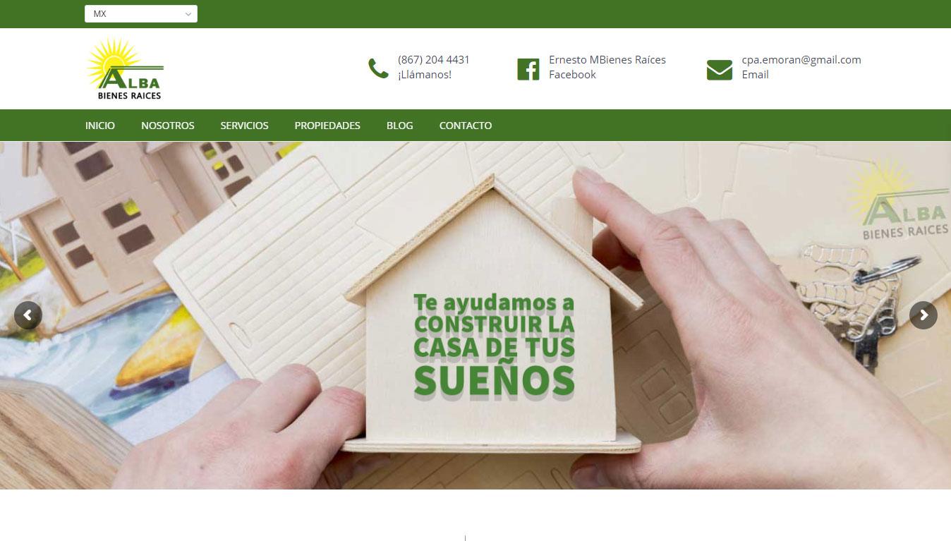 Creacion de sitios web para Bienes Raices en Nuevo Laredo