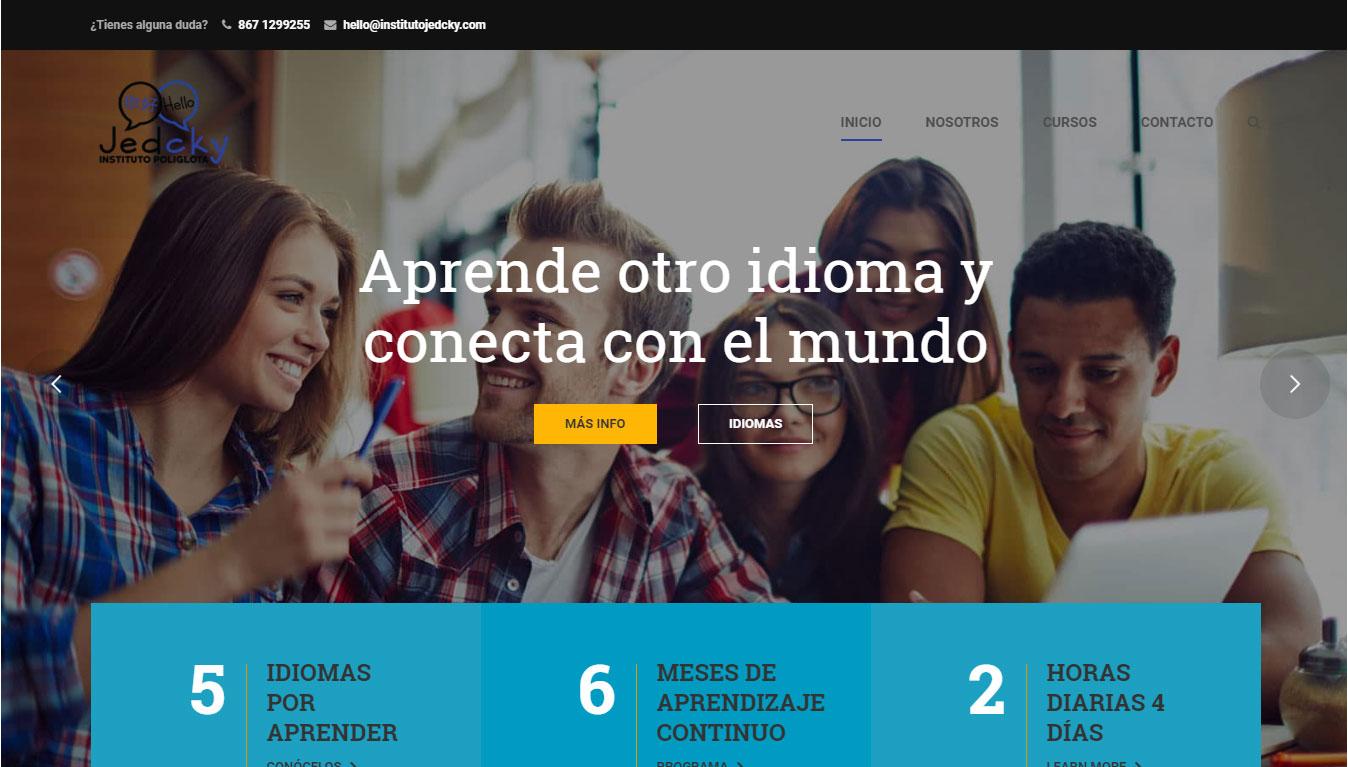 Diseño de sitios web para escuelas de idiomas en Monterrey